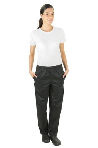 Black Womens Chef Pants