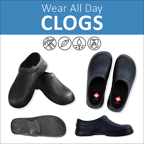 wear all day clogs